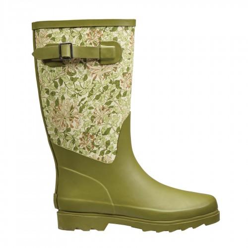 Fabric Feel Rubber Wellington Boots - Honeysuckle - William Morris