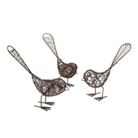 Antiqued Wire Country Birds
