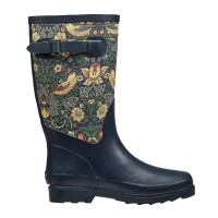 Fabric Feel Rubber Wellington Boots - Strawberry Thief - William Morris